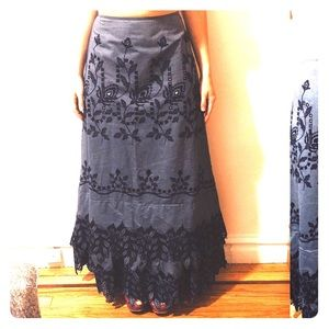 Christian Lacroix NWT embroidered maxi skirt US 4